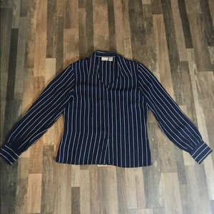 Newport blue and white stripped long sleeve
